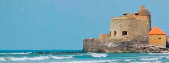 Le Fort d'Ambleteuse. Dernier regard sur la mer avant longtemps.