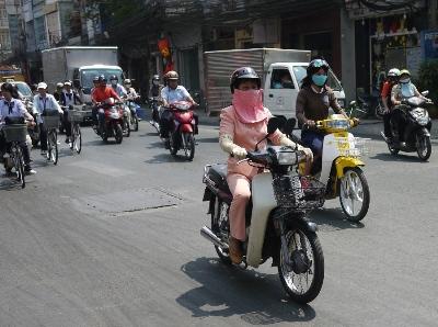 Mobylettes à Saigon