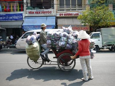 Dans une rue de Saigon