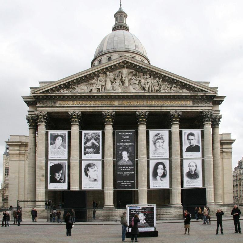 Le Panthéon de Paris — Journée internationale des femmes, 8 mars 2008.