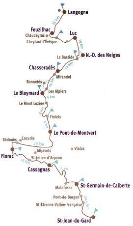 Carte du Chemin Stevenson