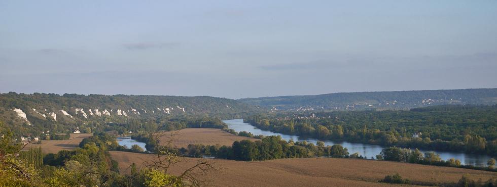 La vallée de la Seine depuis les hauteurs de La Roche-Guyon