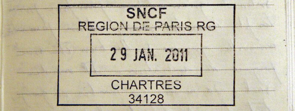 Tampon de la gare de Chartres