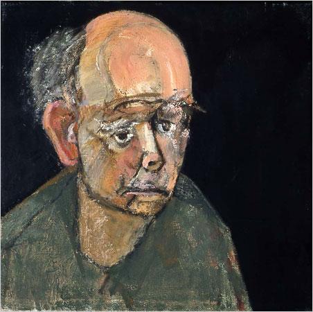 William Utermohlen — Autoportrait en vert (1997)