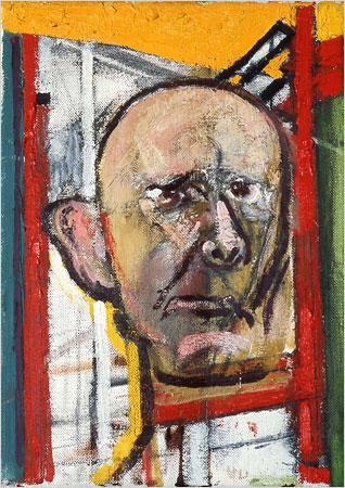 William Utermohlen — Autoportrait au chevalet (1998)