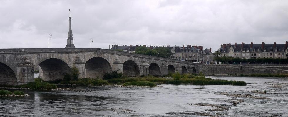La Loire à Blois (pont Jacques Gabriel)