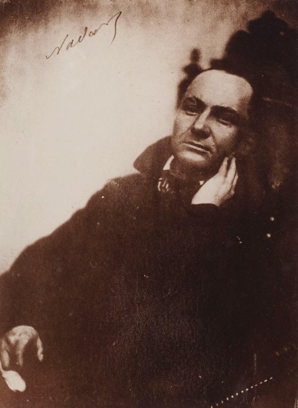 Baudelaire au fauteuil (Félix Nadar, 1855)