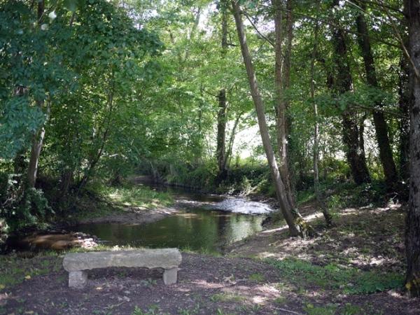 Pause au bord d'un ruisseau