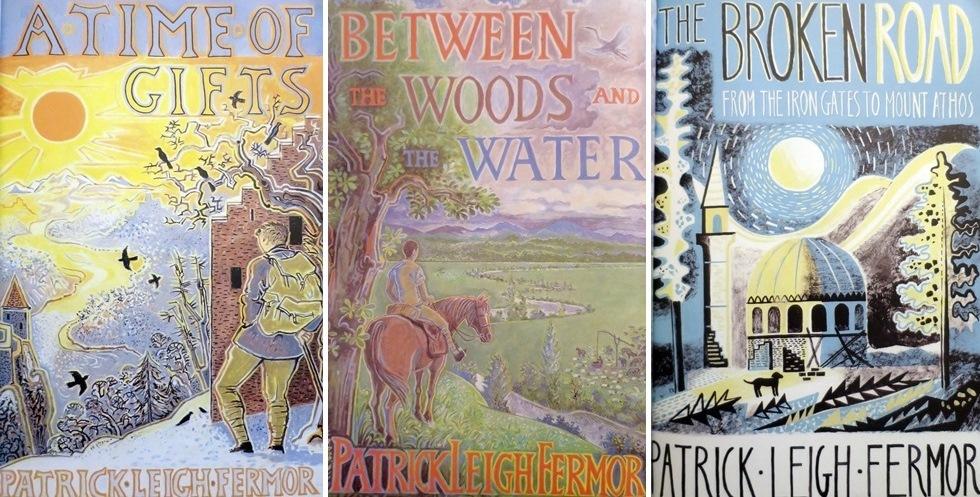 Patrick Leigh Fermor – Couvertures originales des éditions anglaises des trois tomes