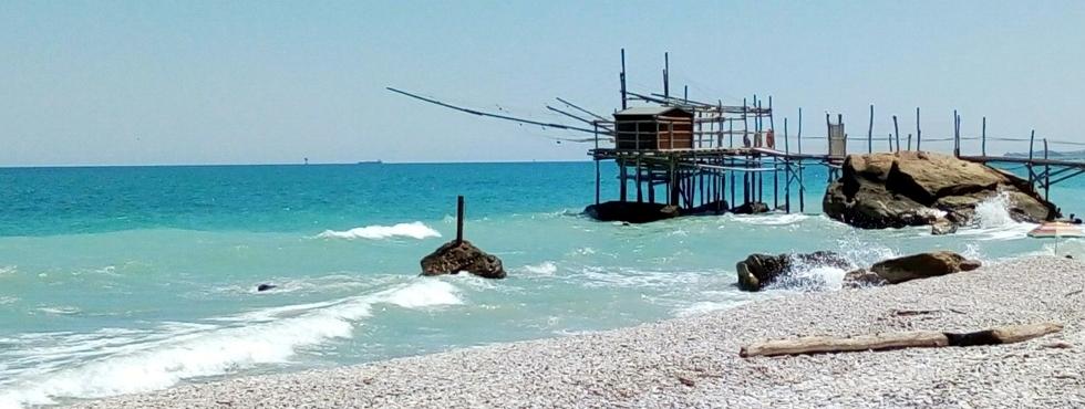 Un 'trabocco' sur la côte apulienne