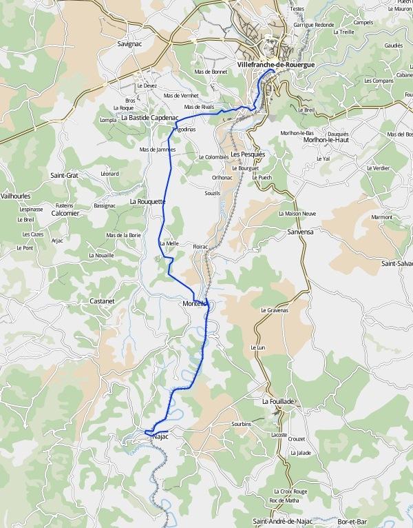 de Villefranche-de-Rouergue à Najac