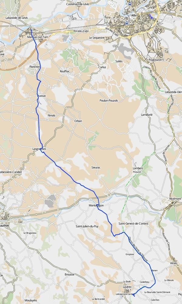 de Marssac-sur-Tarn à Lautrec