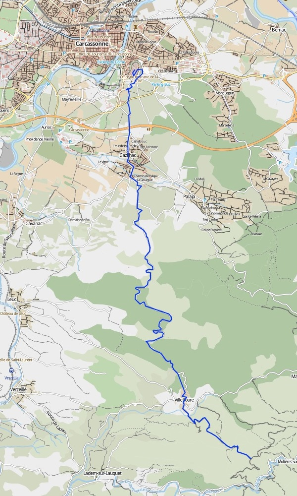 de Carcassonne au Col de Jouffray